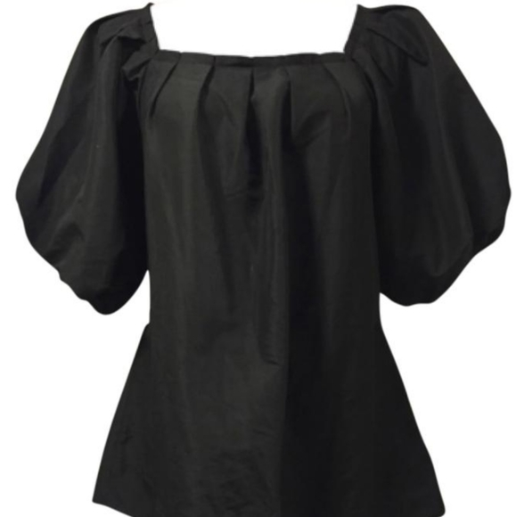BEDO puffy sleeve blouse with pockets